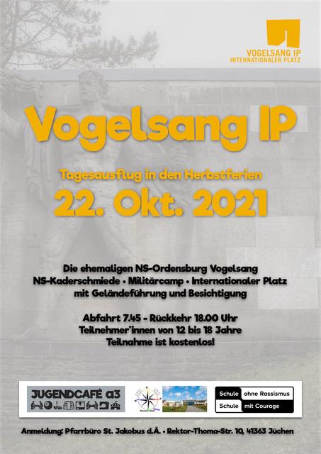 """Tagesausflug """"Vogelsang IP"""" in den Herbstferien am 22.10.2021"""